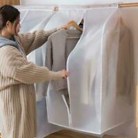 Translucent Matte Hanging Clothes Dust Cover Garment Storage Bag Y9T7