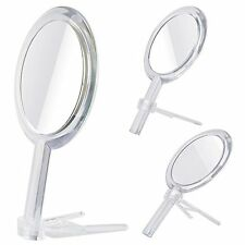 Double Sided 1x - 7x Magnification Hand Held Makeup Mirror Stand,clear (7x)