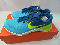 Nike Metcon 3 Mens Crossfit Training Shoes Blue Yellow 852928-401 Size 7.5