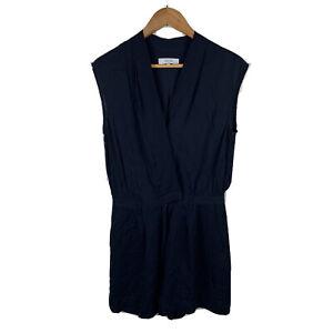 Reiss Womens Jumpsuit Romper Playsuit Size 10 Navy Blue Sleeveless 37.13
