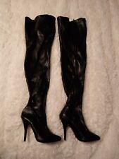 Pleasure USA Seduce 3000 High Heel Thigh High Boots Black Stretch  Size 7