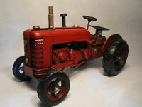 TINPLATE RETRO MODEL TRACTOR  SHABBY CHIC VINTAGE FARM TRACTOR Red Tractor Model