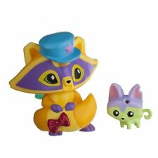 Animal Jam Posh Raccoon & Pet Kitty Mini Figure Pack + Exclusive Secret Code New