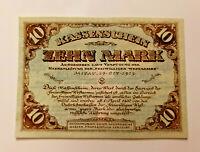 MITAU LATVIA JELGAVA NOTGELD 10 MARK 1919 EMERGENCY MONEY BANKNOTE (12441)