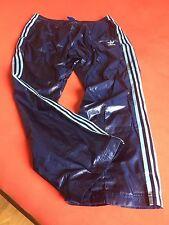 ADIDAS Cal SURF Pantaloni lucentezza Nylon Shiny Nylon L Track Pants EFFETTO BAGNATO EFFETTO gay VINTAGE