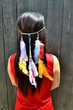 Rainbow Feather Headband - Hippie Headband - Festivals - Bohemian - Tribal