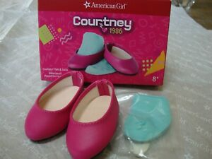 """18"""" American Girl Doll Clothes COURTNEY FLATS & SOCKS Shoes NEW in Package"""