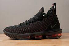 Nike LeBron 16 Men's Basketball Shoes - Black/University Red, Size 9.5