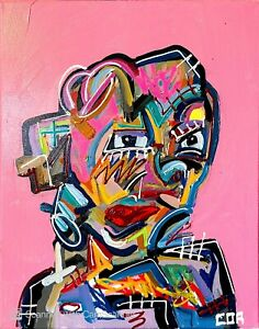 RUNNING MAN EXPRESSIONISM PORTRAIT CANVAS WALL ART PAINTING CONTEMPORARY DESIGN