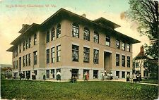 Students in Front of the High School Building, Charleston WV 1909