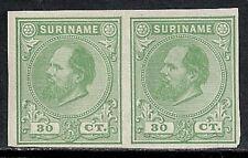 Surinam 1873 30c Imperforated Proofpair Ung Vf