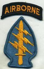 Original Vietnam Era Special Forces Full Color Patch W/Airborne Tab