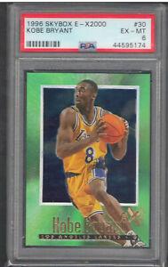 1996-97 Skybox E-X2000 Kobe Bryant Rookie Card RC #30 PSA 6 | Los Angeles Lakers