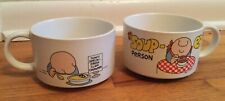 2 Vintage Ziggy Soup Mugs Stoneware Delicate Collection 1979 Tom Wilson
