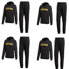 Adidas Mens Tracksuit Hoodie Sweatpants Fleece Full Tracksuit Bottoms Joggers