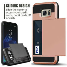 For Samsung Phone Wallet Case [Credit Card Pocket] Hybrid Rugged Armor Cover