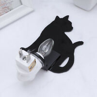 1Pc Night Lamp Cat Shape Light Plug in Wall for Bedroom Living Room Home