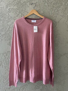 Old Navy Men's Round Neck Long Sleeve Thin Pullover Sweater Rose Pink Sz 2XL NWT