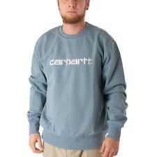 Carhartt Sudadera 57/43 Sudadera Jersey De Hombre Polvoriento Azul Blanco 34357