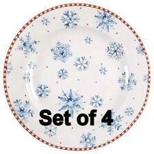 SAKURA Set of 4 SNOWFLAKE Salad / Dessert Plates ONEIDA Debbie Mumm Design