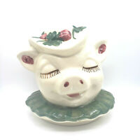 Vintage 1940s Shawnee Pottery Clover Bud Winnie Cookie Jar Home Decor Head Only