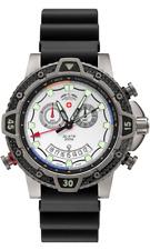 CX Swiss Military Typhoon Scuba Watch Titanium/Carb Fibre Case Silv Dial