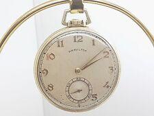 Vintage Hamilton Size 12 Pocket Watch 21 Jewel Cal 921 in J.Boss Case - 18A