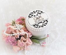 Pretty Personalised Wooden Wedding Ring / Engagement Ring Bearer Box
