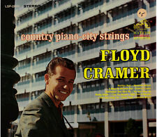 "FLOYD CRAMER!! - ""COUNTRY PIANO CITY STRINGS"" RCA VICTOR STEREO LP VG!!"