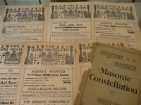 Masonic Constellation Freemasonry Antique Newspaper Knights Templar Mason 1892