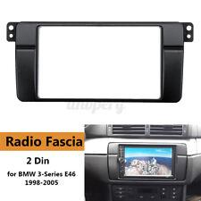 Car 2 Din Radio Fascia Panel Plate Surround Frame For BMW 3 Series E46