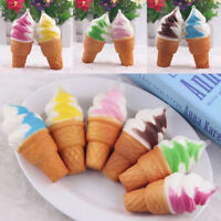 10cm Ice cream Simulation Squishy Cake Slow Rising Cellphone Straps Bread Toys