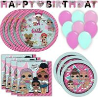 LOL SURPRISE Party Supplies, Favors, Decorations Bundles (See Selections) NEW