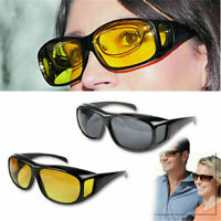 For Driving Wraparound Sunglasses Fits Over Glasses HD Day/Night Vision glasses