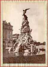 Italie, Turin, Le monument au tunnel de Frejus Vintage albumen print.  Tirage