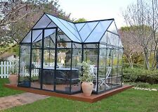 Palram Chalet 12'W x 10'D x 8.85'T Aluminum Greenhouse Kit (model Hg5400)