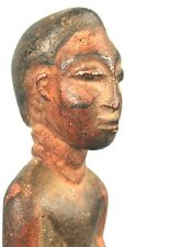 Art Africain Ethnique - Très Ancienne Statuette Baoulé Colon en Bois - 16 cms