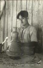 Oaxaca Mexico Potter Pottery Alfarero Labor Occupation Real Photo Postcard