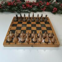 Exclusive Heavy Wooden Chess USSR, Soviet chess, wooden chess, , outdoor game, v