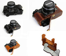 New Bottom/Half PU Leather Camera Case Bag Cover For Olympus PEN-F penf pen f