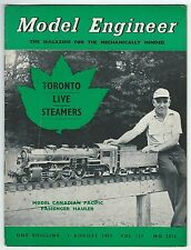 Model Engineer August 1957 Vol.117 No.2932 Percival Marshall & Co Ltd Good-
