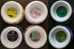 """Cat Kitten Food Water Bowls 5.5"""" X 1.5"""" S20 Select: Theme"""
