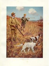 Early 1900s Antique Bird Hunting Print ~ The First Day Afield