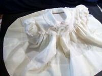 Vintage  C.I. Castro & Co Girls Yellow W Lace Dress 24M Circle Puffed Sleeve
