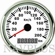 Boot KFZ Auto GPS Tachometer Kilometerzähler Rostfrei Wasserdicht 200KM/H 85mm D