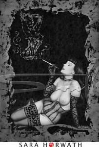 Lafumee Dita smoke cigar limit. Print pin-up burlesque fineart by SARA HORWATH