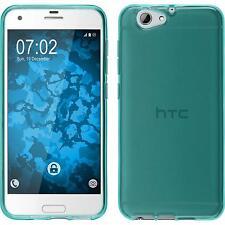 Custodia HTC One A9s trasparente turchese Cover One A9s in silicone Case
