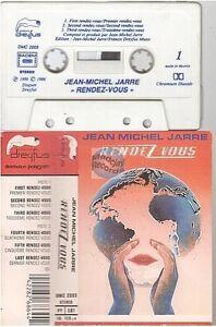 JEAN MICHEL JARRE cassette K7 tape RENDEZ VOUS label blanc DMC 2005
