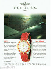 PUBLICITE ADVERTISING 026  1997  Breitling  montre Lady J