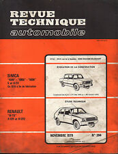 RTA revue technique automobile n° 394 RENAULT 14 R14 TS R1211 R1212